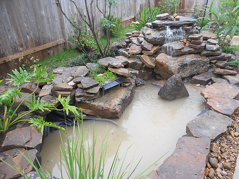 rock pond katy landscaping